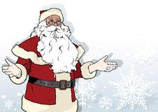 Christmas Background with Santa Claus Royalty Free Stock Photos