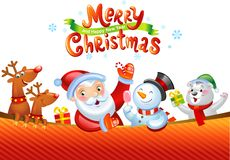Christmas background with Santa Claus Stock Photos