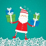 Christmas blank with Santa Claus. Christmas background  with Santa Claus. Vector illustration Stock Photography