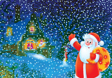 Christmas background with Santa Clause Royalty Free Stock Photo