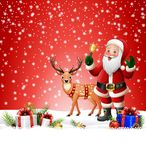 Christmas background with Santa Clause ringing bell Stock Image