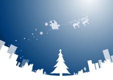 Christmas background and santa. Royalty Free Stock Photography