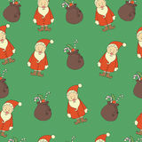 Christmas background, seamless, doodles. Stock Photo