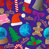Christmas background, seamless, great choice for wrapping paper pattern royalty free illustration
