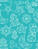 Christmas background - seamless pattern Royalty Free Stock Photos