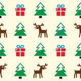 Christmas background - seamless pattern Royalty Free Stock Photo
