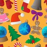 Christmas background, seamless tiling Stock Photos