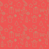 Christmas background, seamless tiling, great choice for wrapping paper pattern.  Stock Image