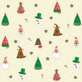 Christmas background, seamless tiling, great choice for wrapping paper pattern stock illustration