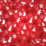 Christmas background, seamless tiling, great choice for wrapping paper pattern vector illustration