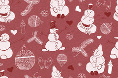 Christmas background, seamless tiling stock illustration