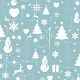 Christmas background, seamless tiling, great choice for wrapping stock photos