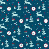 Christmas background, seamless tiling pattern texture vintage stock illustration