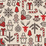 Christmas background, seamless tiling. Vector illustration. Royalty Free Stock Photography