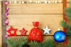 Christmas Background, selective focus Royalty Free Stock Photography