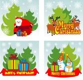 Christmas background set Stock Photography
