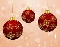 Christmas background with set balls Stock Photos