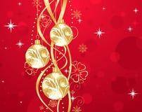 Christmas background with set balls Stock Photos