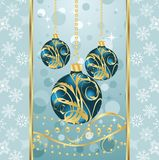 Christmas background with set balls Royalty Free Stock Image
