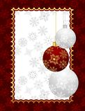 Christmas background with set balls Royalty Free Stock Images