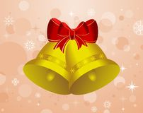 Christmas background with set bells Royalty Free Stock Image