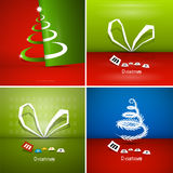 Christmas Background Set Royalty Free Stock Images