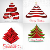 Christmas background set illustration Stock Images