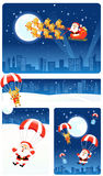 Christmas Background Set | Santa & Rudolph Stock Photography