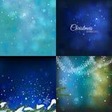 Christmas Background set Stock Images