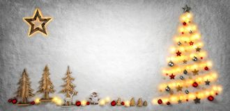 Christmas background shaped with lights and ornaments stock images