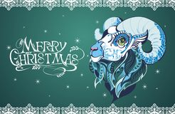 Christmas background with sheep Royalty Free Stock Photography