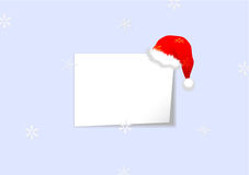 Christmas background with sheet of paper Royalty Free Stock Photography