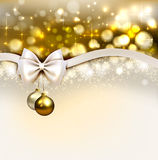 Christmas background. With shine evening balls Royalty Free Stock Image
