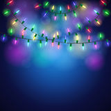 Christmas background with shining colorful lights Royalty Free Stock Photography