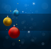 Christmas background with shiny Christmas balls Stock Photography