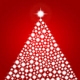 Christmas background with shiny christmas tree Stock Images