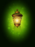 Christmas background with shiny lantern Royalty Free Stock Photography