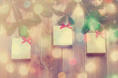 Christmas background with  shopping bags Stock Photo