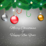 Christmas background with sign Stock Photo