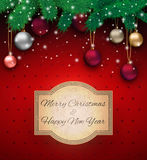 Christmas background with sign Stock Images