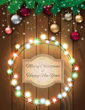 Christmas background with sign Royalty Free Stock Photos