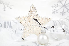 Christmas background silver. Stock Images