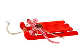 Christmas background - sleigh isolated on white Royalty Free Stock Image