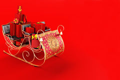 Christmas background, sleigh with presents Royalty Free Stock Photography