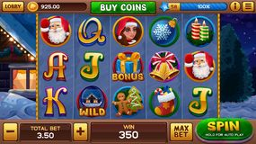Christmas background for slots game Royalty Free Stock Image
