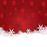 Christmas background with snow. Stock Photos