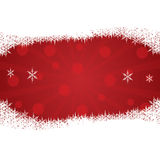 Christmas background with snow. Stock Photography