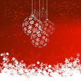Christmas background with snow balls  Royalty Free Stock Photo