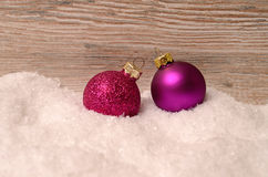 Christmas background with snow Stock Images