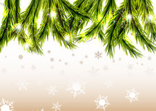 Christmas background with snow Stock Photos